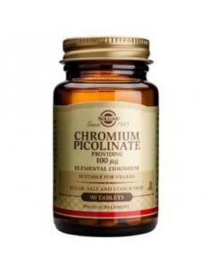 GTF CHROME WITHOUT PICOLINATE LEV.100mcg. (Ref.1365) 90c - SOLGAR
