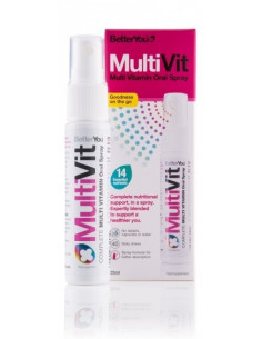 MultiVit Spray Oral (reforzado con ácido fólico)-BetterYou- 25ml