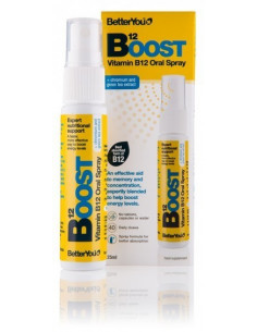 Boost B12-Vitamina en spray-(sublingual, 40 dosis diarias)-BetterYou-25ml