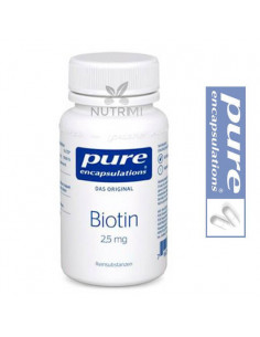 Biotina 2,5 mg - Pure Encapsulations - 60 Cápsulas