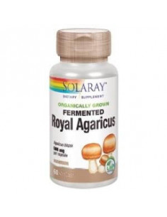 ROYAL AGARICUS champiñon 500mg sun. 60cap.veg - SOLARAY