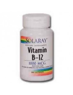 VIT. B12 + folic acid 1000mcg. 90comp sublingual - SOLARAY