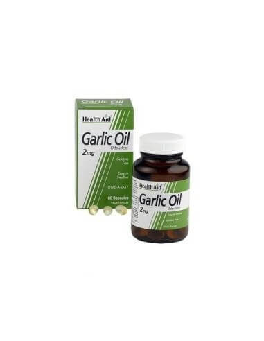 Garlic oil (garlic oil) 2mg. 60cap. HEALTH AID - HEALTH AID
