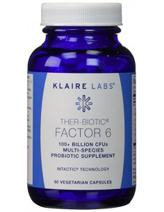 Ther-Biotic Factor 6- (Reinforced with cellulose) -KLAIRE Labs- 60 vegetable capsules