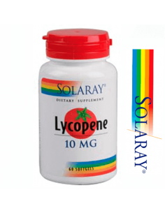 Licopeno 10mg - Solaray - 60 perlas