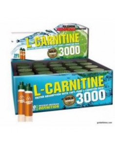 L-CARNITINE 3000mg. 20viales - GOLD NUTRITION