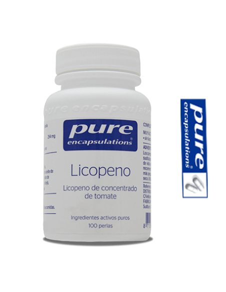 Licopeno - Pure Encapsulations - 10 mg 100 Cápsulas