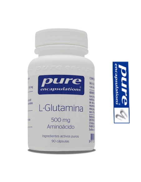 L-glutamina - Pure Encapsulations - 500 mg 90 Cápsulas