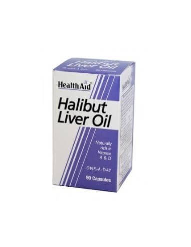 HALIBUT LIVER OIL 90cap. HEALTH AID - HEALTH AID